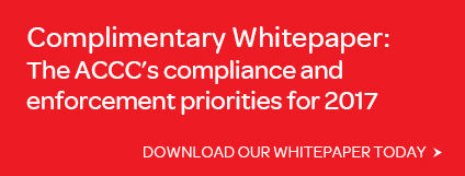 Regulatory Compliance ACCC Priorities Enforcement