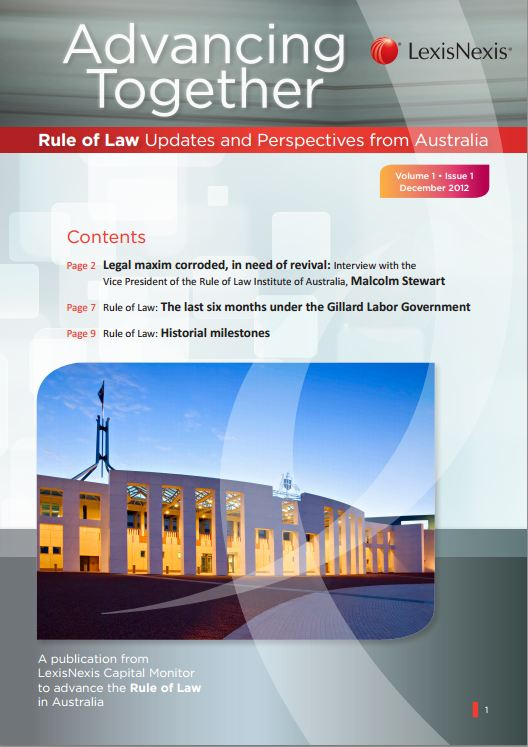Rule of Law - December 2012 | LexisNexis Asia-Pacific