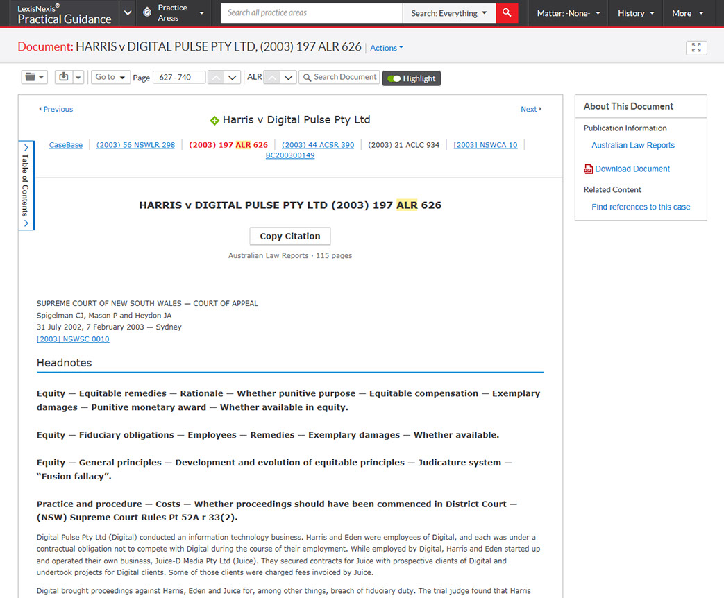 Lexisnexis Practical Guidance Whats Included